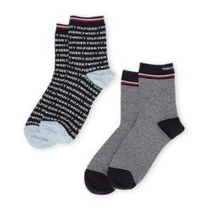 NWT Tommy Hilfiger 2-Pack Tommy Heart Crew Ssocks